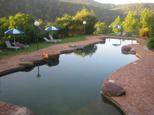 Swimming pool at Kunala Chalet